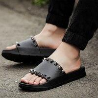 Classice Women Slippers Rivet Slides Summer Thick Soled Slippers Rivet Sandals Women Shoes Zapatillas Mujer Flip