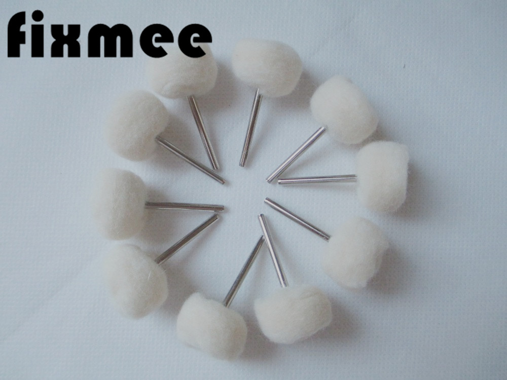 10 PCs 25MM Dia 3MM Fine Shank Wool Polishing Head 1