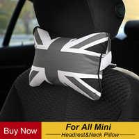 Подушка для шеи Юнион Джек клетчатый уход затылочный подголовник для всех Mini Cooper Countryman R50 R53 R55 R56 R60 R61 F54 F55 F56
