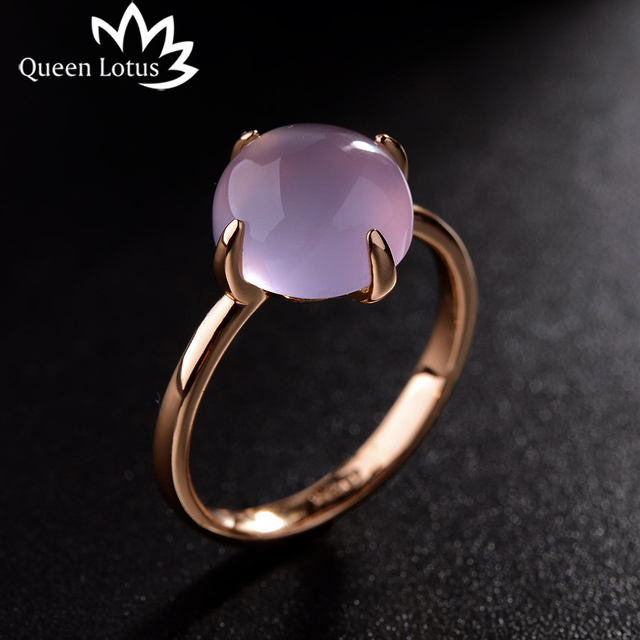 Queen Lotus 2018 new Korean simple fashion ring Cat eye stone personality silver