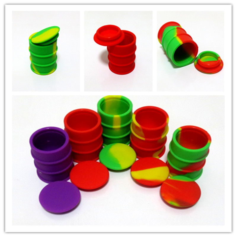 100 X Assorted Color 26ml Non-stick Silicone Container For Wax Bho Oil Vaporizer Silicone Jars Dab Wax Container E Cigarette
