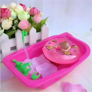 2017 Kawaii Baby Toy Play House Toys Bath Tub Doll Accessories Furniture Accessories for Barbie best girl toys 2017