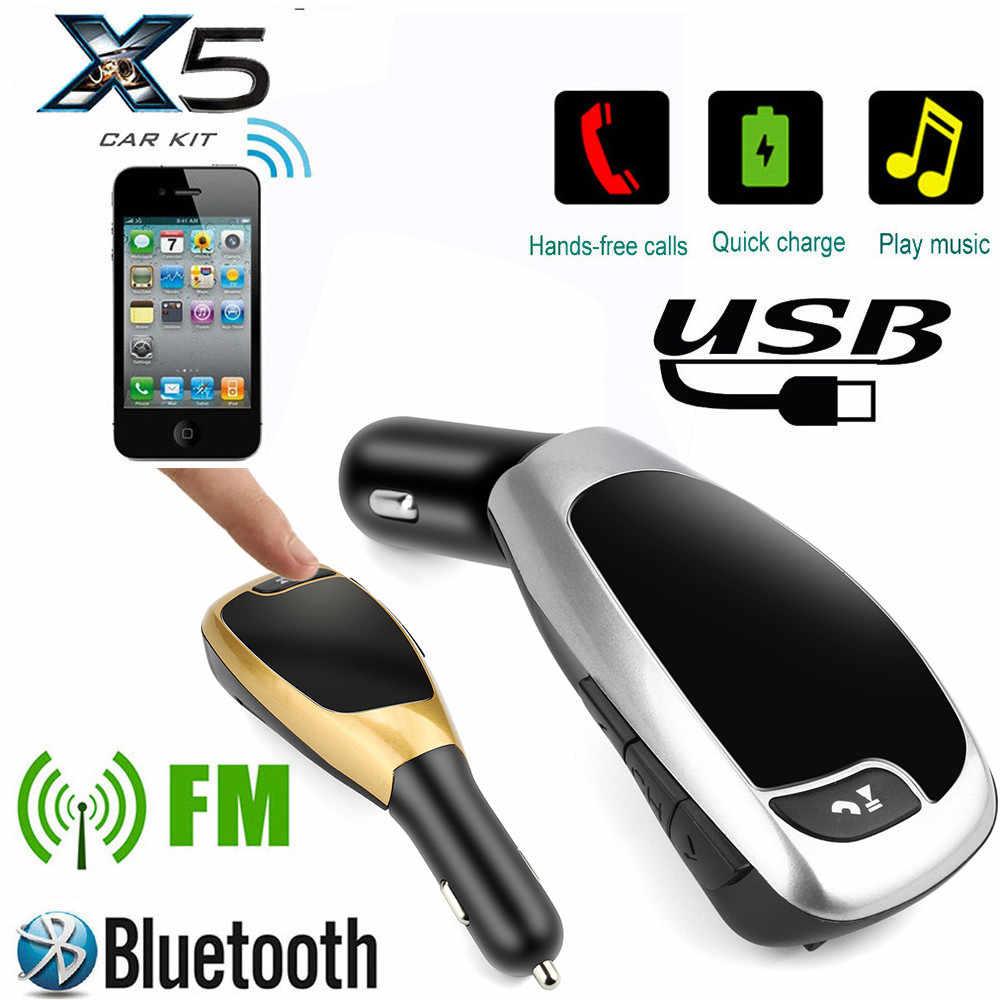 BT-X5A ワイヤレス Bluetooth 液晶 MP3 プレーヤーカーキット SD MMC USB FM トランスミッタ変調器ドロップシップ jh0416