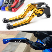 For YAMAHA FZ1 FAZER 2001 2005 2006 2015 FZ8 FZ 8 Brake Clutch Handle Extendable Levers Foldable Motorcycle Accessories