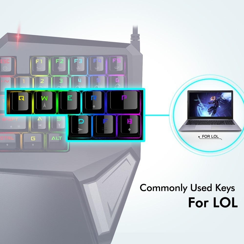 United RGB Player Buttons