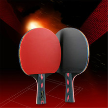 2Pcs Upgraded 5 Star Carbon Table Tennis Racket Set Lightweight Powerful Ping Pong Paddle Bat with Good Control Friendship