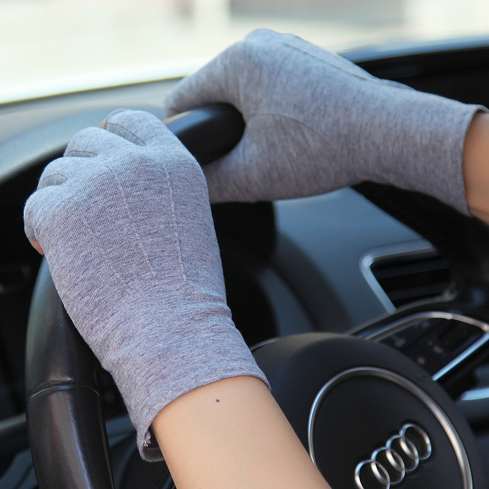 Summer Gloves Unisex Semi Finger Sunscreen Gloves Man Woman Thin Non Slip Driving Cotton Half Finger Mittens Male Female SZ109N in Men 39 s Gloves from Apparel Accessories