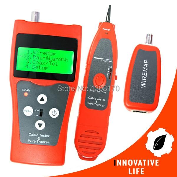 все цены на Multi-functional Digital Cable Tester Network LAN Ethernet Wire Tracker Telephone Line Coax 5E 6E Tester онлайн