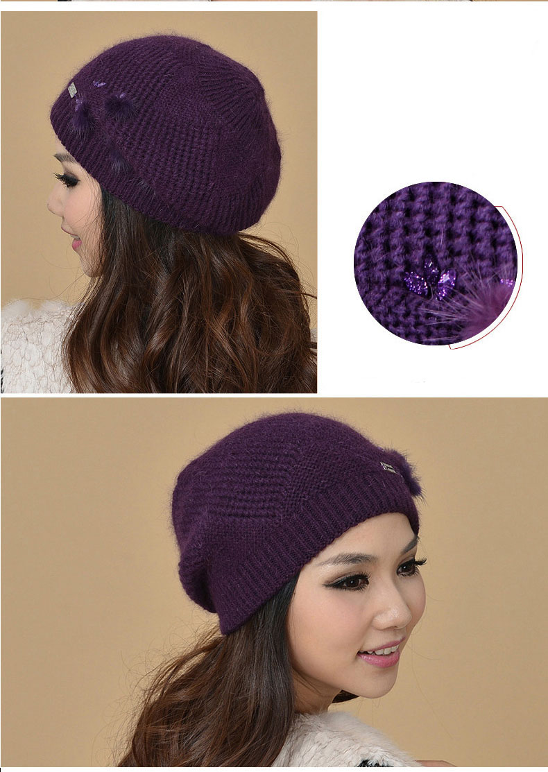 Hair Elegant Beanies Rabbit 15