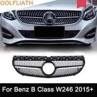 АБС пластик хром подходит для Mercedes Benz W246 B200 B class 2015 2016 2017 Передняя сетка передняя решетка вентиляционное отверстие