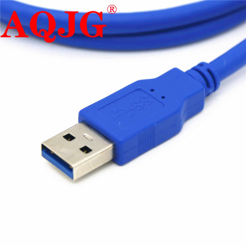 Cable Length: 1m Cables USB 3.0 Male to Female Extension Cable with Panel Mount Screw Hole Lock Connector Adapter Cord for Computer Blue Wholesale