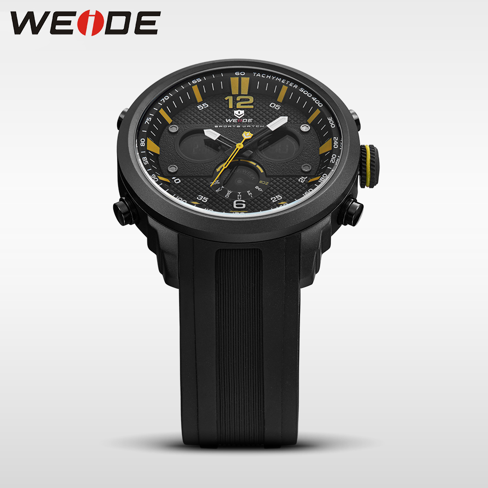 WEIDE men watch sport digital luxury brand quartz watches water resistant relojes hombre alarm clock automatic electronics watch weide casual genuine luxury brand quartz sport relogio digital masculino watch stainless steel analog men automatic alarm clock