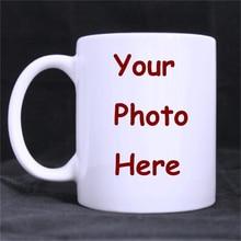 Personalisierte fotos Becher kaffeetasse keramik Tee reise porzellan aufkleber home küche milch mugen