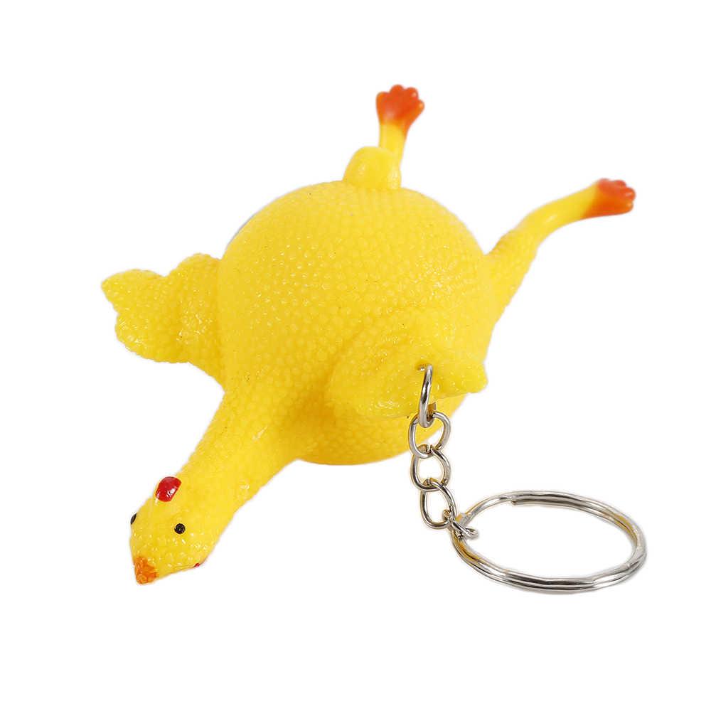 Engraçado Gadgets Brinquedos Ventilação Frango Ovo da Galinha Piadas Fabricante Chaveiro Cheio de Ovos de Galinhas Poedeiras Chaveiro Stress Brinquedos Venda Quente