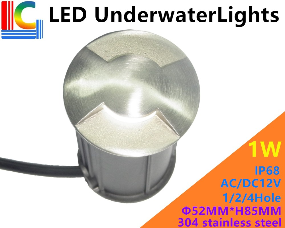 Led Lamps Glorious 1/2/4 Hole 1w Led Underwater Light 12v Ip68 Swimming Pool Light Ce Rohs Outdoor Waterproof Path Lights Fountain Lamp Step Light