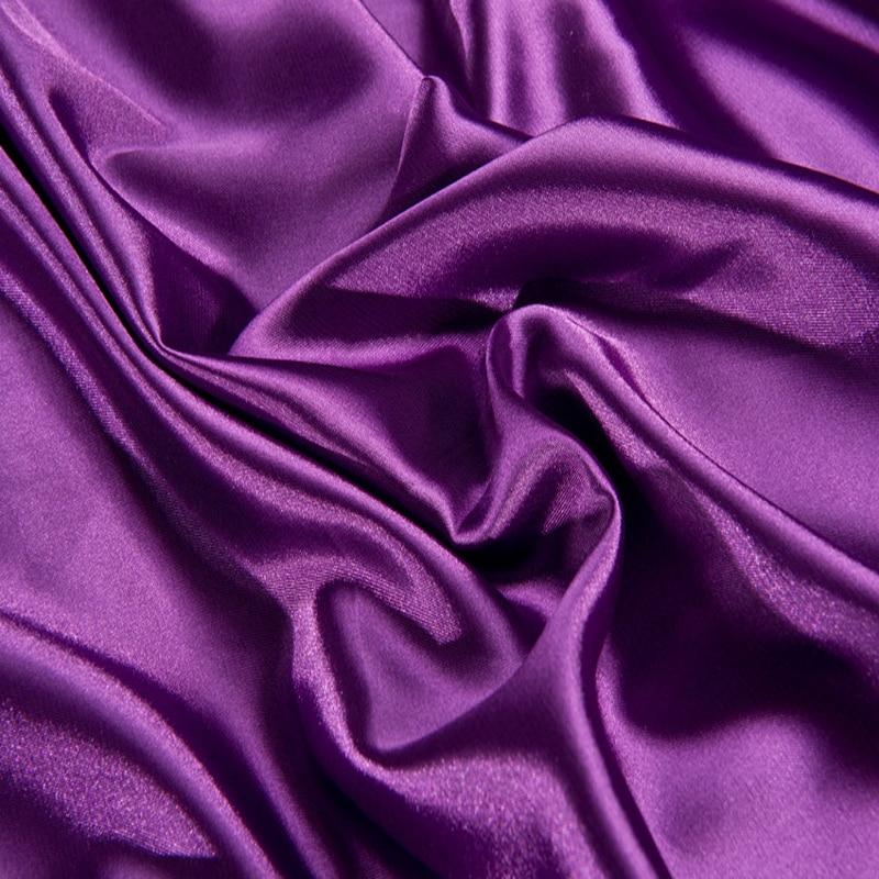 Violett Lila Farbe 100 Schwere Imitiert Maulbeerseide Bettwasche