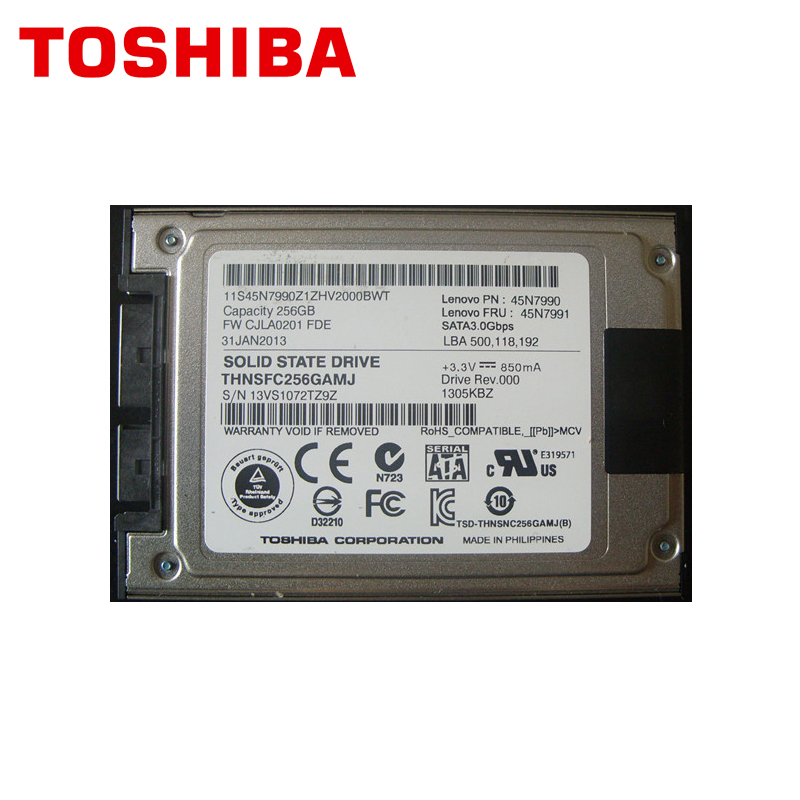 """TOSHIBA Micro SATA 256GB Solid State Drive Disk SSD 1.8"""" 256G for X300 X301 T400S T410S T410SI 2530P 2540P 2730P 2740P Xt2-in Internal Solid State Drives from Computer & Office"""