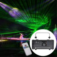 EU Plug Laser Stage Light Projector With Remote Control DM RGB400 LED Stage Effect Lighting For Disco Light Xmas Party