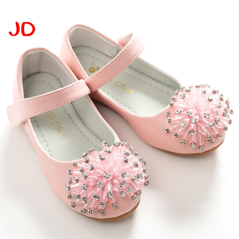 Childrens Shoes New Product Girl Princess Shoes. Sweet Rhinestone Girl Leather Shoes Children Single