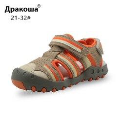 Apakowa wiosenne letnie chłopięce sandały maluch Baby Boy zamknięte Toe plażowe sandały dziecięce odkryte sandały sportowe dla chłopców obuwie dziecięce w Sandały od Matka i dzieci na