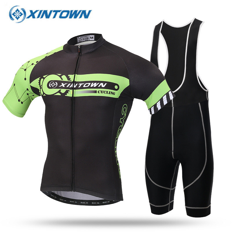 New Design ! Pro 100% Polyester Cycling Jerseys Ropa Ciclismo/Comfortable Bicycle Clothing Black-Green Bike Clothes электрическая зубная щетка oral b trizone 3000
