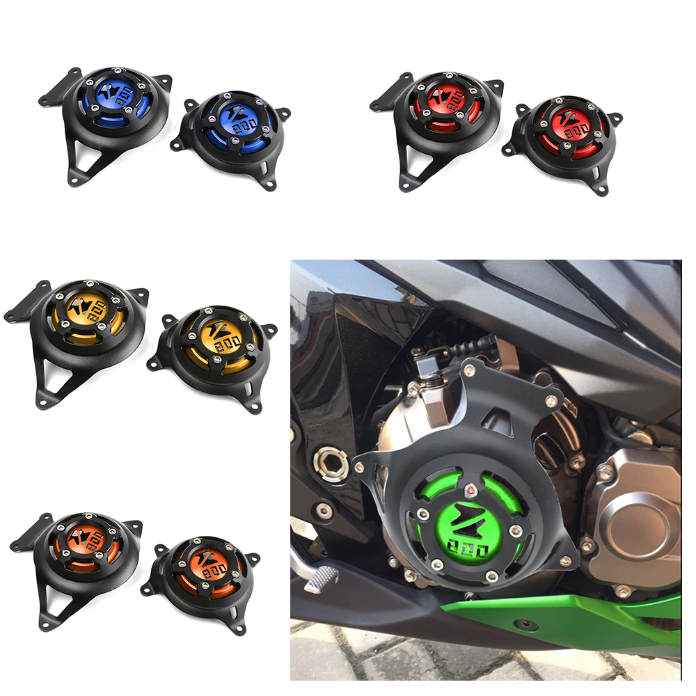For Kawasaki Z800 z 800 2013-2017 CNC Aluminum Motorcycle Engine Stator Cover Engine Protective Cover Left Right Guard Cover 36cm resin a380 great british airplane model england airlines airways model plane aircraft stand craft british a380 airbus model