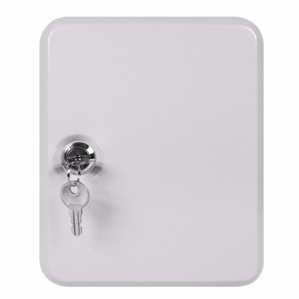Key Cabinet Box 20 Tags Fobs wall Mounted Lockable Security Metal cupboard Safe for Home Property Management Company practical key safe box lockable security metal key cabinet storage box safe 20 tags fobs wall mounted key security box wholesale