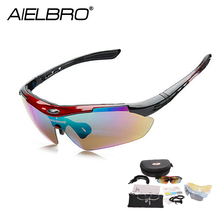 Advanced Cycling Glasses Sets 5 Lens Polarized Men MTB Sunglasses Eyewear Running Sport UV400 Bicycle Fishing Goggles