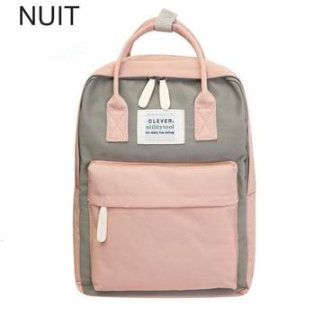 Campus Women Backpack School Bag for Teenagers College Canvas Female Bagpack 15inch Laptop Back Packs Bolsas Mochila