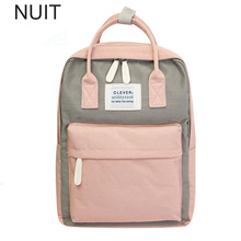 Campus Women Backpack School Bag for Teenagers College Canvas Female Bagpack 15inch Laptop Back Packs Bolsas