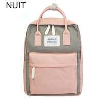 Campus femmes sac à dos sac d'école pour adolescents collège toile femme sac à dos 15 pouces ordinateur portable dos Packs Bolsas Mochila