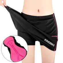 KINGBIKE женские велосипедные шорты юбки 3D мягкий гелевый Черный Быстрый сухой велосипед шорты юбка спортивные юбки MTB анти-пот велосипедные шорты