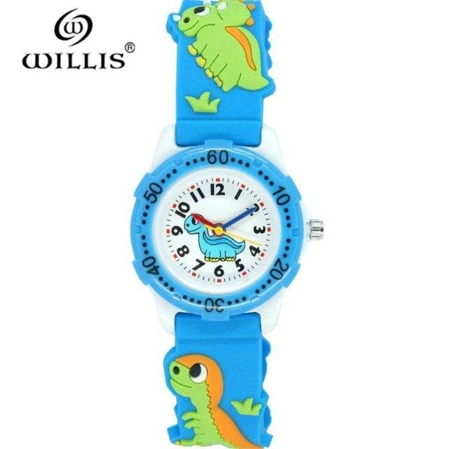 6376ef31ecf WILLIS Crianças Relógio Relógio Dos Desenhos Animados 3D Crianças Relógios  Meninos Meninas Dinossauro Criança Silicone Strap