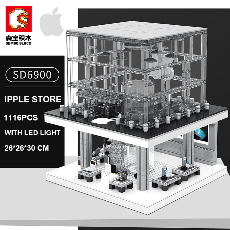 Sembo City Street View SD6900 Apple Store Compatible LeSet Creator Building Blocks Bricks Model Toys With