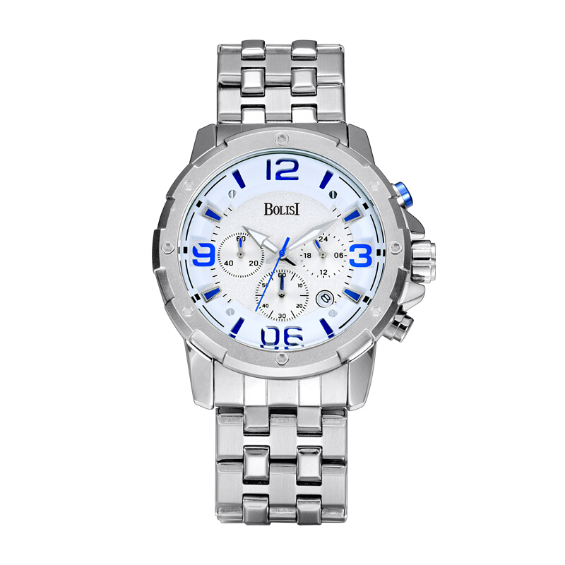 Top Luxury Brand Men Sport Quartz Waches Men's stainless steel Strap Date Clock Male Casual Wrist Watch Relogio Masculino hombre top brand luxury digital led analog date alarm stainless steel white dial wrist shark sport watch quartz men for gift sh004
