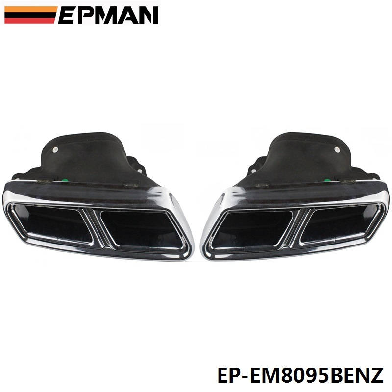 Chrome 304 Stainless Steel Exhaust Muffler Tip For BENZ S-Class AMG W222 EP-EM8095BENZ футболка print bar mercedes amg s 63 w222