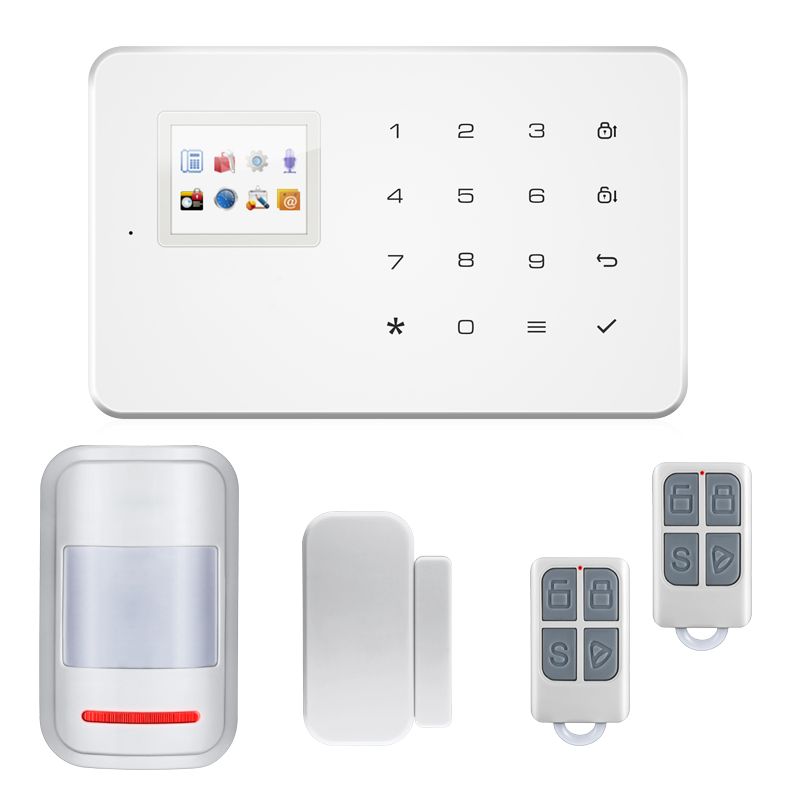 Home Office Wireless GSM Alarm System SIM Smart Home Burglar Security Alarm System Android ISO APP Control PIR infrared Detector free shipping android app wireless gsm home alarm system sim smart smoke home burglar security alarm system kit pir infrared