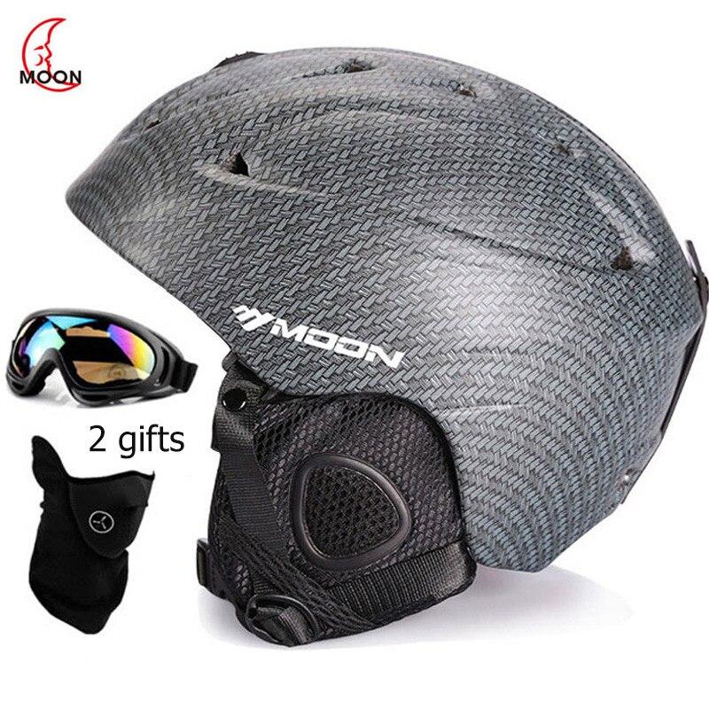MOON Skiing Helmet Winter Adult Snowboard Skiing Equipment Snow Sports Safety skateboard Ski Helmet For Men