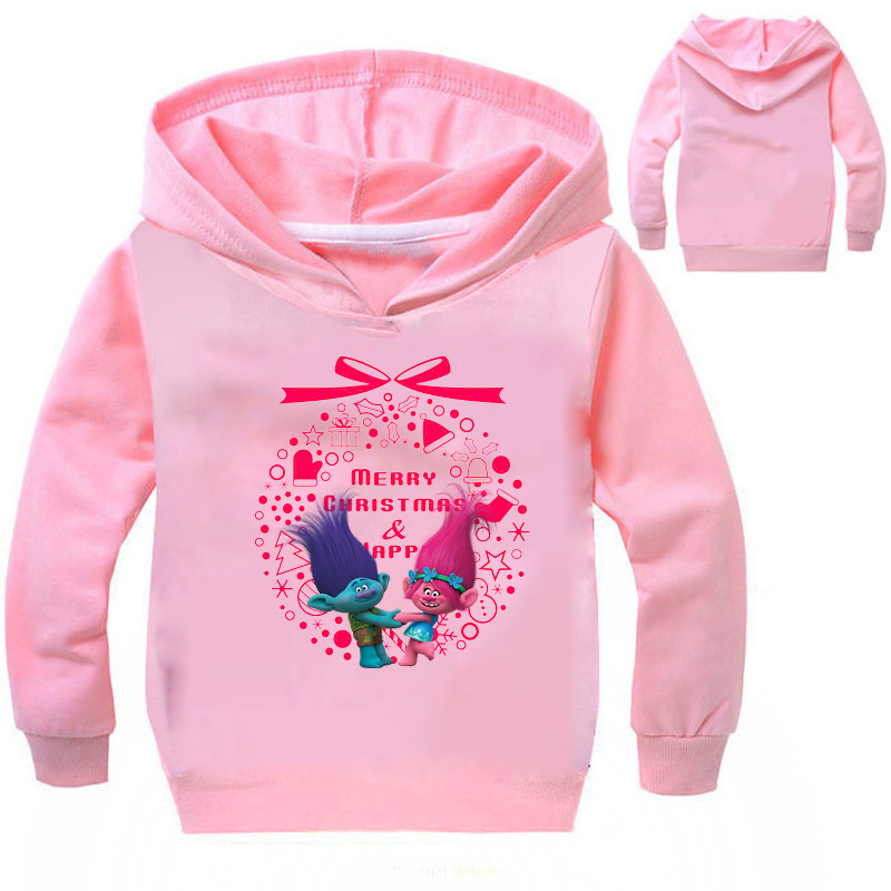 Z&Y 3-16 Years Fantasia Trolls Clothes Christmas Jumper Xmas Baby Children Coat Toddler Jacket Manteaux Filles Long Sleeves M452