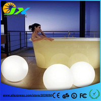 20cm led PE ball Ac85 265v rechargeable outdoor diameter 25cm rechargeable,Glowing Sphere,waterproof pool LIGHT BALL for Holiday