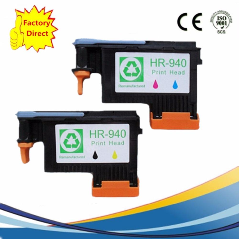 2 Pack 940 XL 940XL Reman Printhead For HP HP940 HP940XL Officejet Pro 8000 8500 8500A Print head Printer Head C4900A C4901A