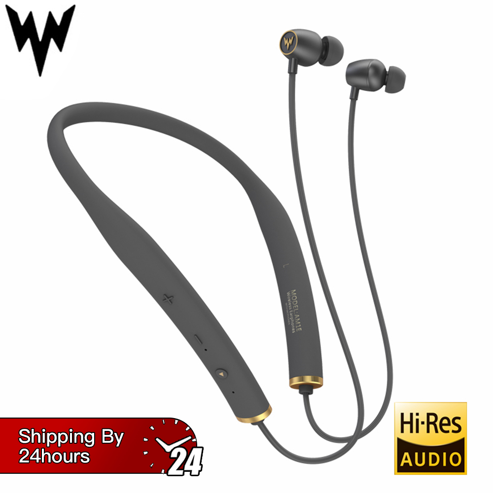 Whizzer AM1E Wireless Bluetooth HiFi Earphones Waterproof Neckband with Mic Control for Android IOS 15hrs Working