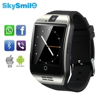 Skysmile q18 smart watch bluetooth reloj smartwatch androide nfc para apple iphone6 inteligencia whatsapp sync sms sim tf tarjeta cam