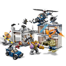 Marvel Avengers Endgame Compound Battle Superheroes Building Blocks Kit Bricks Classic Movie Model Kids Toys Compatible Legoings