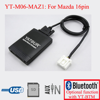 Yatour Digital CD changer USB AUX interfaces player for Mazda 16pin