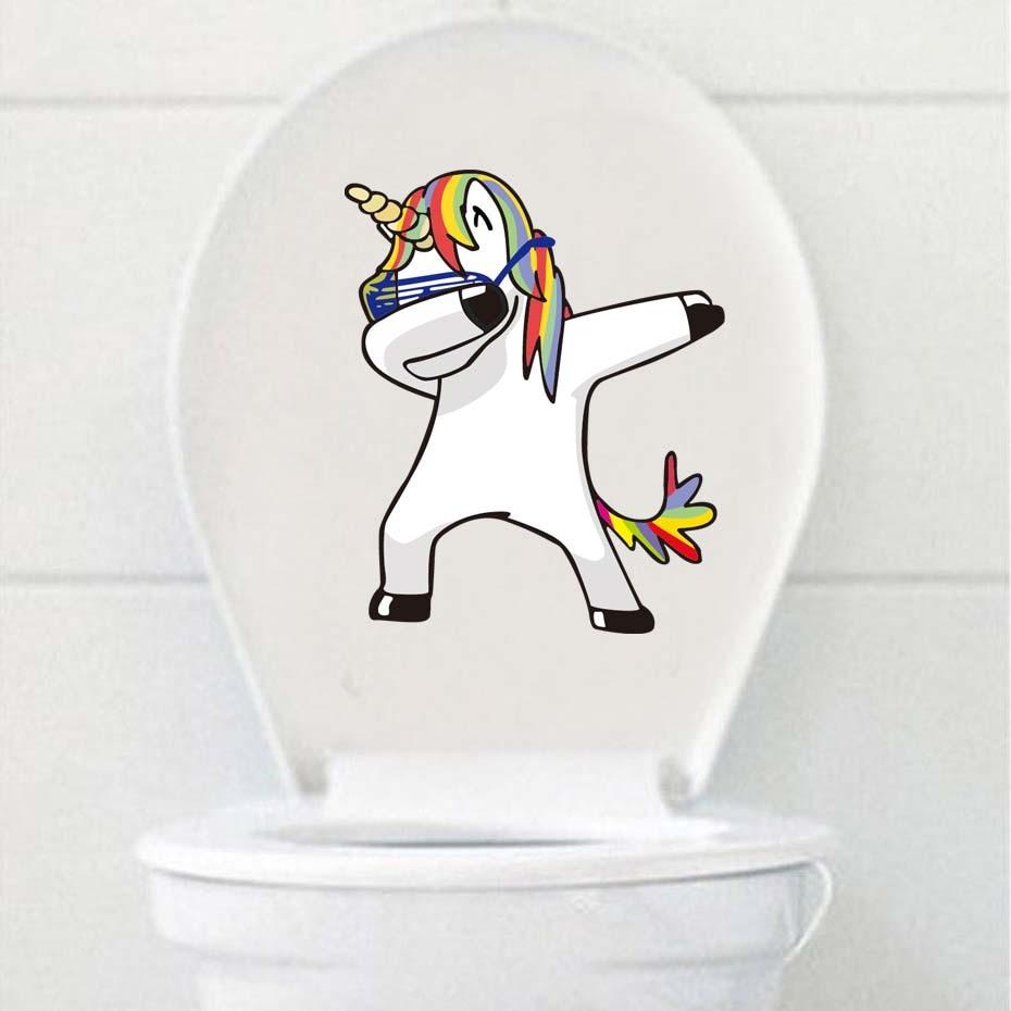 3D Cartoon Waterproof Toilet Stickers Funny WC Wall Decals For Bathroom Bedroom Wall Decorations Vinyl Pvc Wallpaper Home Decor