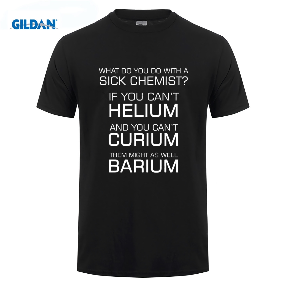 Sick Chemist T-Shirt Funny Joke Periodic Elements Puns Quote