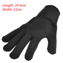 1 Pair Anti-cut Anti-slip Outdoor Hunting Fishing Gloves Cut Resistant Protective Knife Anti-cutting Hand Protection Mesh Gloves
