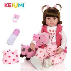 KEIUMI/Лидер продаж, Кукла Reborn Baby, игрушка, ткань, тело, Мягкая Реалистичная кукла для малышей с жирафом, подарок на день рождения, Рождество