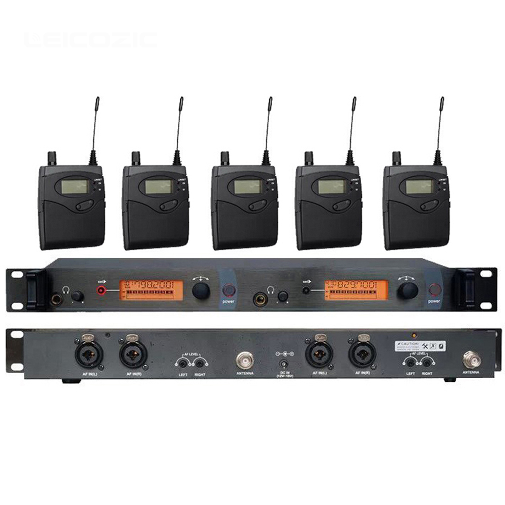 5 Receivers UHF Wireless In Ear Monitor System for Stage performance with MONO free shipping micwl g3 dual channel uhf wireless monitor monitoring system 1 transimtter with multiple receivers